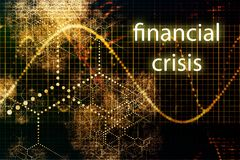 Financial Crisis. Business Concept Wallpaper Presentation Background Stock Photo