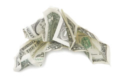 Financial crisis. A photo of crushed dollar, financial crisis symbol Royalty Free Stock Images