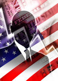 Financial Crisis. World power america in crisis - Financial Crash on Wall Street Stock Photo