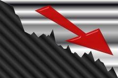 Financial Crisis. Chart representing Financial Crisis and Value Decrease Royalty Free Stock Photos