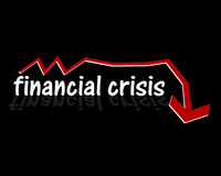 Financial crisis. Illustration. Economical problems worldwide Royalty Free Stock Photography