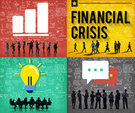 Financial Crisis Accounting Banking Economics Concept Stock Photo
