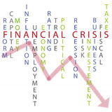 Financial crisis background. Illustration of the concept financial crisis with words and graphic on background. vector. eps available Stock Photo