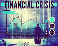 Financial Crisis Banking Recession Statistics Concept Royalty Free Stock Image