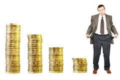 Financial crisis. Bankruptcy Stock Photo