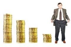 Financial crisis. Bankruptcy Stock Photo