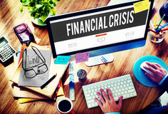 Financial Crisis Bankruptcy Depression Finance Concept Royalty Free Stock Images
