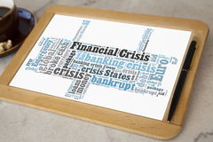 Financial crisis Royalty Free Stock Image