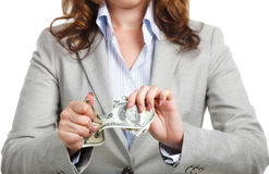 Business concept with dollars Stock Photos
