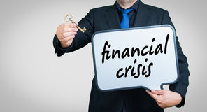 Financial crisis businessman Royalty Free Stock Photo