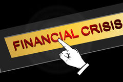 Financial crisis Royalty Free Stock Photo
