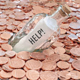 Financial crisis call for help stock images