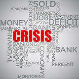 Financial Crisis Concept. Vector illustration of the concept financial crisis with words Stock Photography