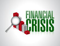 Financial crisis concept illustration design Stock Photography