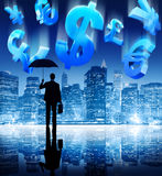 Financial Crisis Currency Money Cityscape Concept Royalty Free Stock Photos