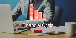 Financial Crisis Depression Failure Decrease Concept. Financial Crisis Depression Failure Decrease Stock Image