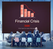 Financial Crisis Depression Failure Decrease Concept. Business People Financial Crisis Depression Failure Decrease Royalty Free Stock Images