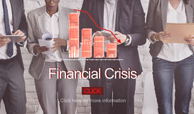 Financial Crisis Depression Failure Decrease Concept. Diverse Businesspeople Financial Crisis Depression Failure Decrease Concept Stock Photography