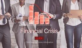 Financial Crisis Depression Failure Decrease Concept Stock Photography