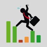 Financial crisis design Stock Photos