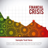 Financial crisis design Royalty Free Stock Photo
