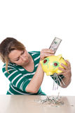 Financial crisis destroyed invested money Royalty Free Stock Photo