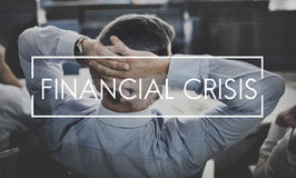 Financial Crisis Economy Recession Risk Cost Debt Concept Royalty Free Stock Images