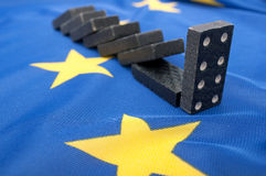 Financial Crisis in Europe. An Union - Domino Effect Royalty Free Stock Photos