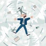 Financial crisis. Fall into the debt trap. Financial crisis. Fall into the debt trap Stock Photos