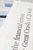 Financial crisis headlines. Newspaper headlines - financial crisis on 2008 Royalty Free Stock Image