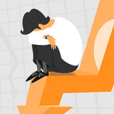Financial Crisis. Illustration Financial Crisis eps 8 file format Royalty Free Stock Photo