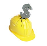 Financial crisis industry. On a white background Royalty Free Stock Images