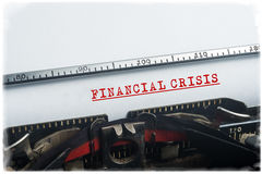 Financial crisis notice Stock Images