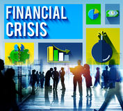 Financial Crisis Problem Money Issue Concept Stock Photography