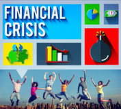 Financial Crisis Problem Money Issue Concept Royalty Free Stock Photos