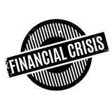 Financial Crisis rubber stamp. Grunge design with dust scratches. Effects can be easily removed for a clean, crisp look. Color is easily changed Stock Photos