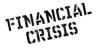Financial Crisis rubber stamp. Grunge design with dust scratches. Effects can be easily removed for a clean, crisp look. Color is easily changed Stock Photography