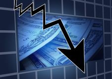 Financial Crisis, Stock Exchange Stock Images