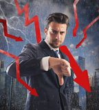 Financial crisis storm Stock Photography