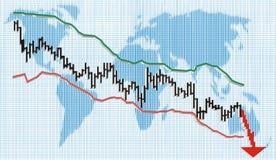 Financial crisis, vector illustration Royalty Free Stock Photos