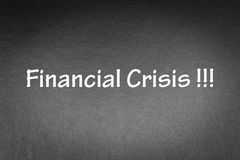 Financial Crisis. Word on Black background for concept and wording Stock Images