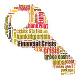 Financial crisis. Word cloud isolated Stock Photography