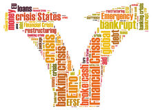 Financial crisis word cloud. On white background Stock Photography