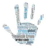 Financial crisis word cloud. On white background Royalty Free Stock Photography