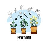 Financial currency to business corporation strategy. Vector illustration Stock Photo
