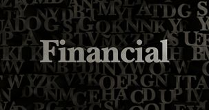 Financial - 3D rendered metallic typeset headline illustration. Can be used for an online banner ad or a print postcard Royalty Free Stock Images