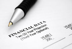 Financial data Stock Photos