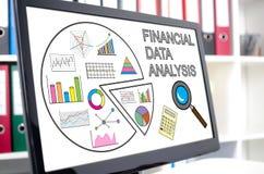 Financial data analysis concept on a computer screen Stock Photography