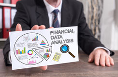 Financial data analysis concept on an index card Stock Photography