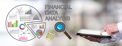 Free Financial Data Analysis Concept With Man Using A Tablet Stock Photography - 159834452